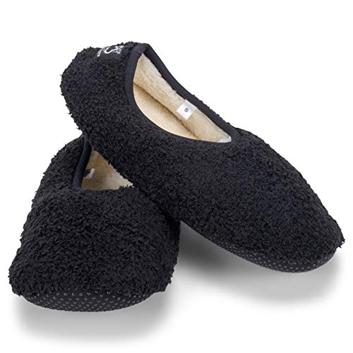 World's Softest Cozy Slippers (Small, Black)