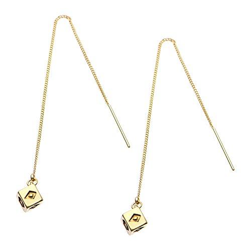 Star Wars Jewelry Women's Base Metal 3D Golden Threaded Drop Earrings, Gold, One Size (SALES1SWMD)
