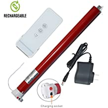 Rechargeable Wireless Tubular Roller Shade Motor Kit with Remote Control for Motorized Electric Roller Blind Shades, 1.5 inch Tube