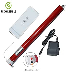 Rechargeable wireless tubular roller shade for Remote control blind motor