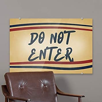 5-Pack Do Not Enter Nostalgia Stripes Premium Acrylic Sign CGSignLab 27x18