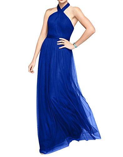 Linie Lang La Abendkleider Blau Ballkleider Damen mia Partykleider Brau Tuell Neckholder Brautjungfernkleider A Royal P4wxHX4aq