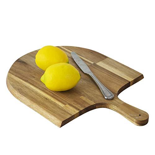 Acacia Houten Pizza Peel, Serveerpan, Kaas en Charcuterie Boards | Pizza Paddle Board met handvat voor het bakken…