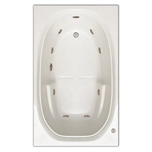 Signature Bath LPI221-W-LD Drop-In Whirlpool Bathtub with Stainless Jets - Left Drain, - Jetted Inch In 36 Drop