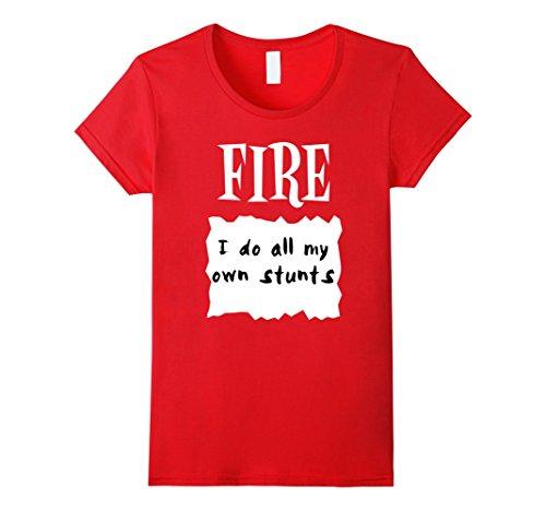 Womens GROUP HALLOWEEN COSTUME T-shirt FIRE HOT SAUCE PACKET Shirt XL (Simple Group Costumes)