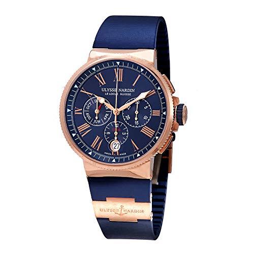 Ulysse Nardin Marine Blue Dial Automatic Men's Chronograph 18kt Rose Gold Watch 1532-150-3/43 (Ulysse Nardin Mens Marine)