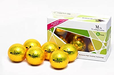 Chromax High Visibility M1x Golf Balls 6-Pack, Gold