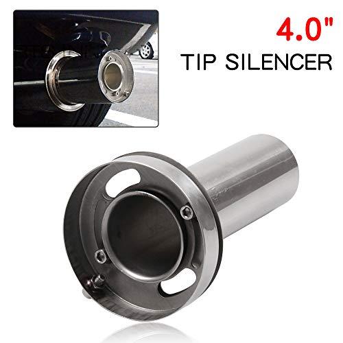 RYANSTAR Exhaust Muffler Adjustable Round Removable Silencer 4