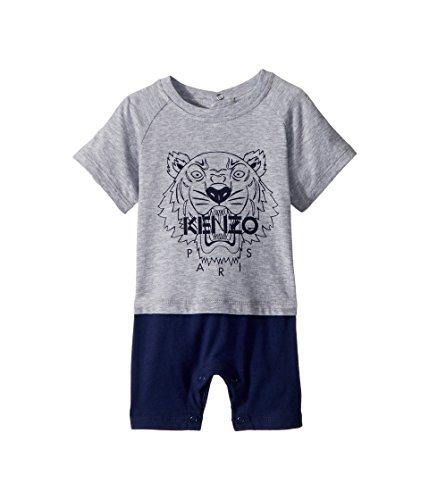 23fb273ad Kenzo Kids Baby Boy s Romper Classic Tiger (Infant) MARL Grey 18 ...