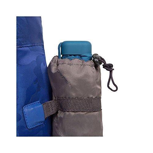Piquadro Briefcase Cartella Due Manici Pelle E Tessuto, Due Scomparti Camouflage blu