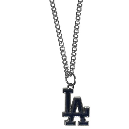 La Dodgers Pendant (MLB Los Angeles Dodgers Women's Chain Necklace with Small Pendant, 20