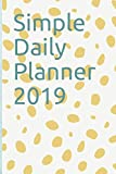 Simple Daily Planner 2019: Plan your day hourly and view your day at a glance: size 6x9 and has one page per day, with dates listed for whole year of 2019