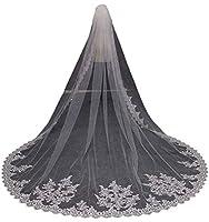 Faithclover Wedding Veils White 1 Tier S...