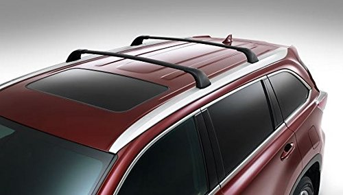 (BRIGHTLINES 2014-2019 Toyota Highlander Cross Bars Roof Racks (Highlander XLE Limited & SE, Black) )