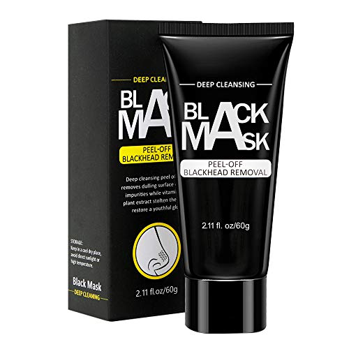 WUXIAN Blackhead Remover Mask,Charcoal Peel Off Mask,black mask,Deep Cleansing Facial Mask for Face & Nose For All Skin Types-60g from WUXIAN