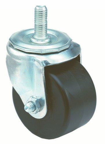 E.R. Wagner Stem Caster, Swivel, Polyolefin Wheel, Plain Bearing, 350 lbs Capacity, 3