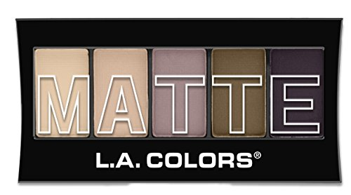 L.A. Colors 5 Color Matte Eyeshadow, Natural Linen, 0.08 Ounce