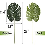 6 Pack Artificial Fake Palm Tree Leaves Tropical
