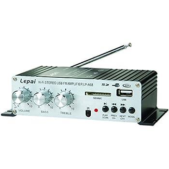 Lepai LP-A68 Digital 2 x 15W Amplifier with Remote/USB/MP3/SD/FM