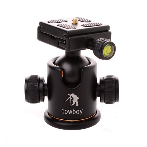 CowboyStudio Pro Camera Tripod Ball Head Quick Release Plate