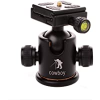 CowboyStudio Pro Camera Tripod Ball Head Quick Release Plate With Gradienter BK-03