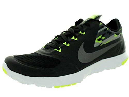 Nike Men's FS Lite Trainer II Premium Black/Mtlc Drk Gry/Vlt/Drk Gry Training Shoe 12 Men US