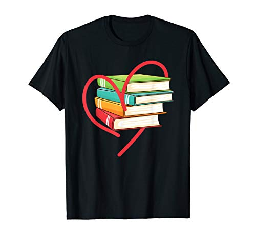 I Love Reading Heart Love Books Gift TShirt Library Bookworm]()