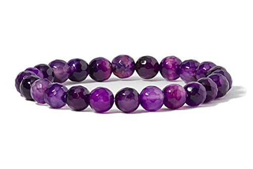 on Gemstone Beaded Stretch Bracelet 8mm Round Beads 7