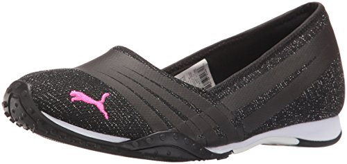 PUMA Women's Asha Alt 2 ZZ Wn's Walking Shoe, Puma Black/Pink Glo, 6.5 M US (Women Pink Puma Shoes)