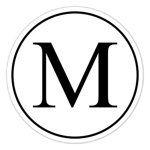 60 Black and White Monogram Stickers, Wedding Stickers, Envelope Seals, Monogram Labels - 2 inch round OR 2.5 inch round