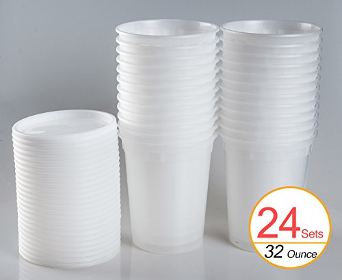 32 oz freezer containers - 4