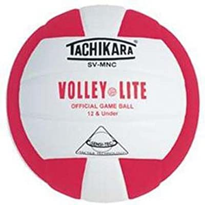 "Tachikara ""Volley-Lite"" Sensi-Tec Composite Leather Volleyball (Scarlet / White) from Tachikara"