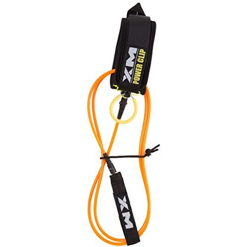 (XM River SURF Surfboard Leash/Power-Clip/Knee/Calf/COMP (.220in) - Made in USA / 3 Year Stoked)