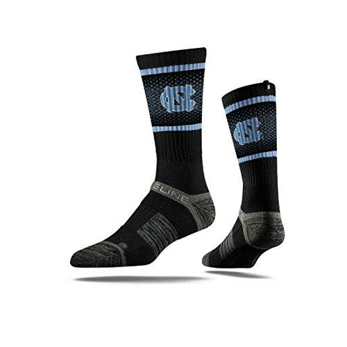 Unc Womens Basketball - Strideline NCAA North Carolina Tarheels Premium Athletic Crew Socks, Black, One Size