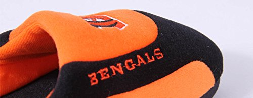 Slippers Low Mens OFFICIALLY Feet LICENSED NFL Cincinnati and Pro Comfy Feet Low Womens Bengals Pro Happy wPzaqaX