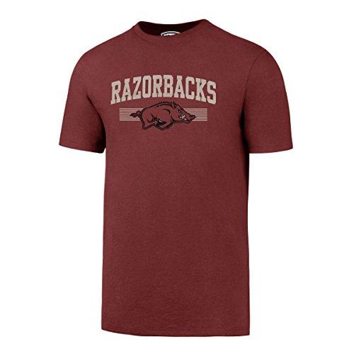 OTS NCAA Arkansas Razorbacks Men's Rival Distressed Tee, Large, Cardinal (Classic Razorbacks T-shirt Arkansas)
