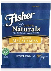 Fisher Naturals Chopped Macadamias 2 Oz (Pack of 6)