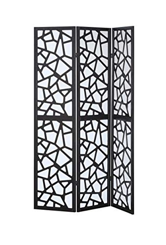 3 Panel Diamond Room Divider - Asher Amada 3 Panel Room Divider Folding Privacy Shoji Screen Pine Wood Frame Black