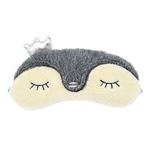 Mk  Park   Plush Animals Sleeping Eye Mask Soft Padded Travel Eye Eyepatch Blindfold Shield  Penguin