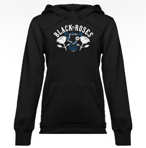 Crooks & Castles Womens Black Rose Hoody Pullover Sweatshirt, Black, X-Small ()