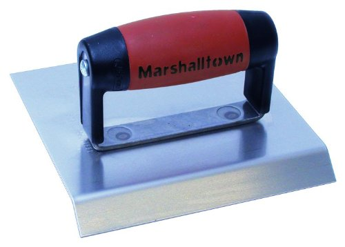 Chamfer Edger - MARSHALLTOWN The Premier Line 483CH 6-Inch x 6-Inch Stainless Steel Chamfer Edger-DuraSoft Handle; 3/4-Inch Lip