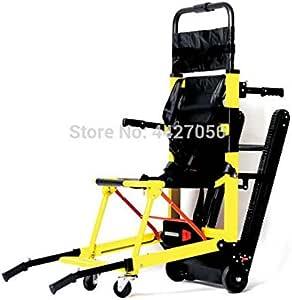 MEICHEN Nuevo diseño Ligero telesilla Silla de Ruedas eléctrica Subir escaleras eléctricas para discapacitados,Amarillo: Amazon.es: Jardín