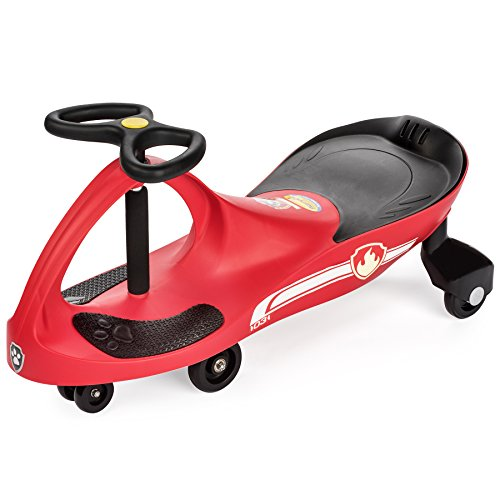 PAW Patrol - The Original PlasmaCar by PlaSmart Inc. - Marshall – Red, Ride On Toy, Ages 3 yrs and up, No batteries, gears, or pedals, Twist, turn, wiggle for endless (Red Pedal Car)
