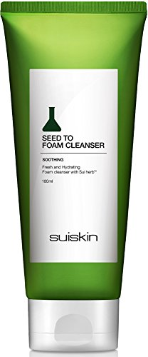 Seed To Foam Face Wash Cleanser - Foaming Hypoallergenic Moisturizing Daily Facial Cleanse - SUISKIN