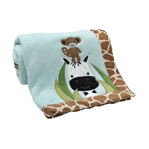 Peek A-boo Nursery - Lambs & Ivy Peek A Boo Jungle Blanket
