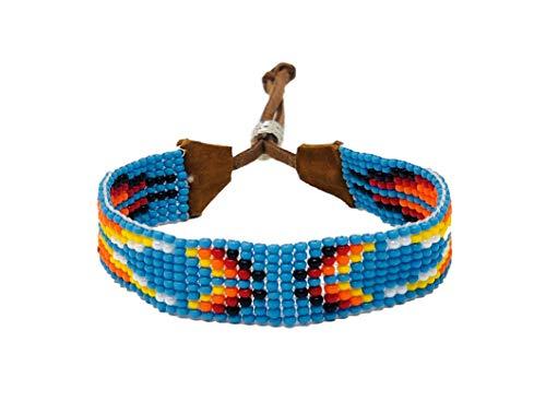 Mayan Arts Handmade Bracelet, Glass Beads, Beaded, Variety Designs, Leather, Shabby Chic, Boho Look, Aztec Tribal, Handmade in Guatemala (Style - Indian Bracelets Beaded For Men