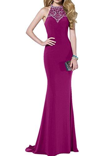 Festlichkleider La Figurbetont Braut Meerjungfrau Promkleider Marie Abendkleider Pink mit Elegant Partykleider Steine qf8wRBq