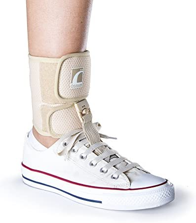 Foot-Up Large Beige Shoeless Wrap for Drop Foot