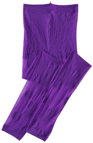 Jefferies Socks Little Girls'  Dotty Footless Tights, Purple, 4-6 Years