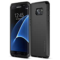Trianium Galaxy S7 Edge Case [Protak Series] Dural Layer TPU Bumper + Hard Polycarbonate Back Plate Cover [Heavy Duty] + Shock Absorbing Protective Frame For Samsung Galaxy S7 edge